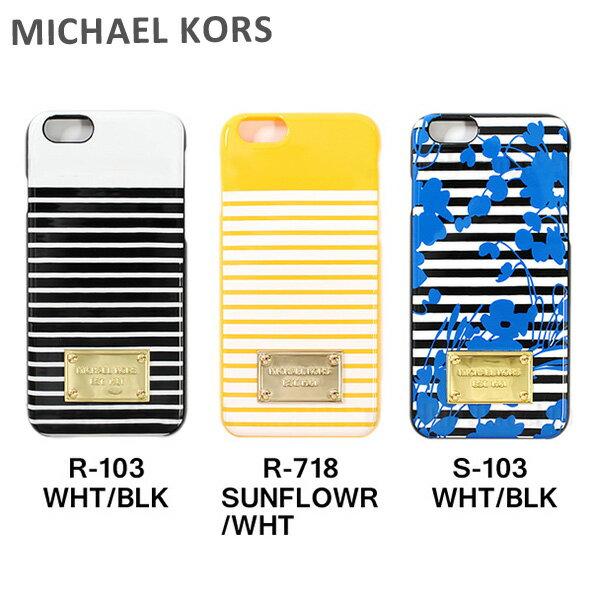 MICHAEL KORS iphone6s ケース スマホケース iphone6 マイケルコース 32S6GELL1R 32S6GELL1S ブラック 黒 サンフラワー イエロー 黄 ブルー 青 マリンボーダー マイケル コース