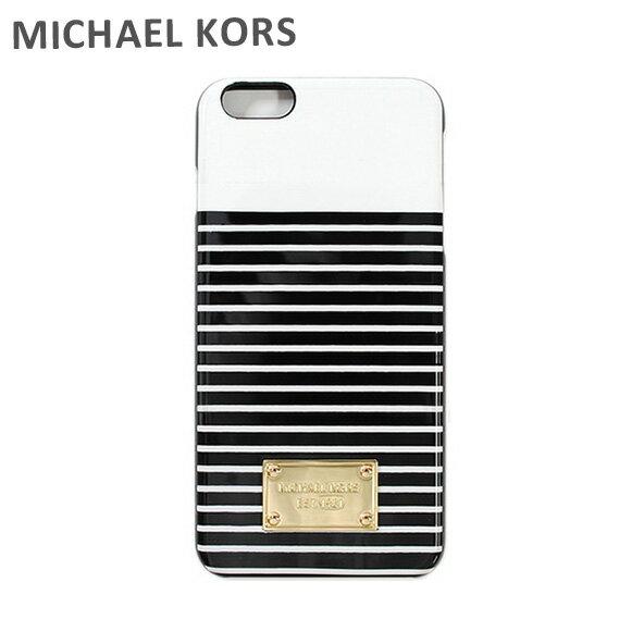 MICHAEL KORS iphone6splus ケース スマホケース iphone6 Plus マイケルコース 32S6GELL2R ブラック 黒 マリンボーダー マイケル コース