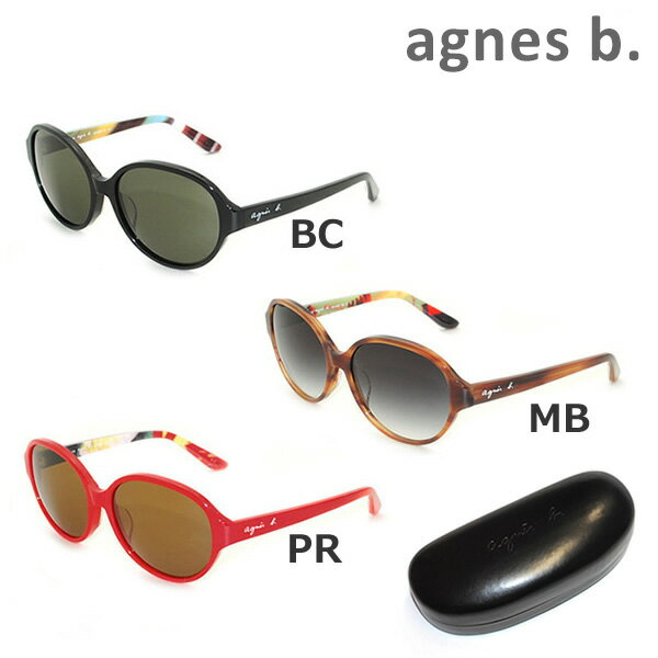 【国内正規品】 agnes b. (アニエスベー) サングラス AB-2828 BC MB PR レディース アジアンフィット UVカット [16N]