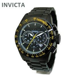 INVICTA (インビクタ) 腕時計 時計 19297 Speedway クロノグラフ ブラック イエロー イオンプレーティング ブレス メンズ インヴィクタ 【送料無料(※北海道・沖縄は1,000円)】