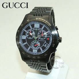 82f9b4f3885 GUCCI(グッチ) 時計 腕時計 YA126217 Gタイムレス クロノグラフ ブラック メンズ ブレス  送料