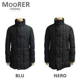 MOORER ムーレー ダウンコート MORRIS KM NERO ブラック BLU ブルー ダウンジャケット メンズ 【送料無料(※北海道・沖縄は1,000円)】