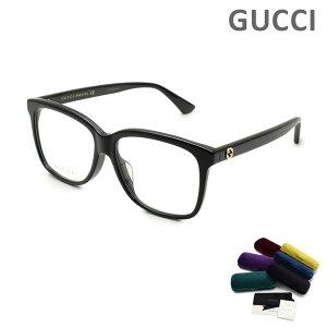 グッチ メガネ 眼鏡 フレーム のみ GG0331OA-001 ブラック アジアンフィット レディース GUCCI 【送料無料(※北海道・沖縄は1,000円)】
