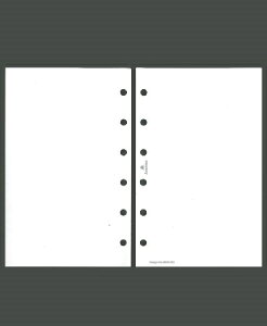 ASHFORD アシュフォード システム手帳リフィル ミニ6(6穴) ホワイトリーフ M6(ミニ6穴) 財布 システム手帳 リフィル 手帳カバー 革 デザイン文具 スケジュール帳 手帳のタイムキーパー