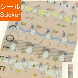 DESINPHIL・MIDORI デザインフィル シール ・ シ-ル 気持ち オジサン柄 スケジュール帳 手帳のタイムキーパー