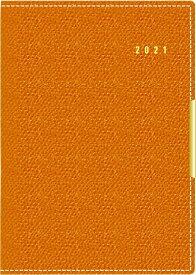 手帳 2021 TAKAHASHI 高橋手帳 2021年1月始まり 高橋書店 手帳 A6 リシェル(R) 4 オレンジ No.214 大人かわいい おしゃれ 可愛い キャラクター 手帳カバー スケジュール帳 手帳のタイムキーパー