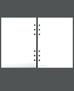 ASHFORD アシュフォード システム手帳リフィル A5(6穴) エコノミーメモリーフ A5 無地 財布 システム手帳 リフィル 手帳カバー 革 デザイン文具 スケジュール帳 手帳のタイムキーパー