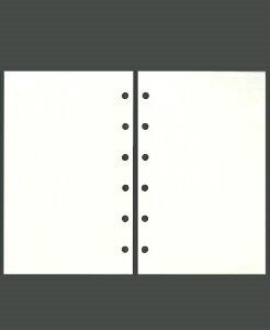 ASHFORD アシュフォード システム手帳リフィル ミニ6(6穴) メモリーフ無地アイボリー M6 財布 システム手帳 リフィル 手帳カバー 革 デザイン文具 スケジュール帳 手帳のタイムキーパー