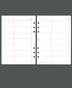 ASHFORD アシュフォード システム手帳リフィル A5(6穴) ノートリーフ A5 財布 システム手帳 リフィル 手帳カバー 革 デザイン文具 スケジュール帳 手帳のタイムキーパー