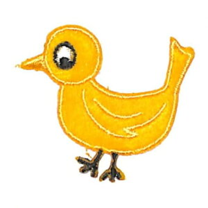 TOCONUTS トコナッツ シール ・ ふわふわワッペン03H 黄色い鳥 シール帳 刺繍 アップリケ ワッペン 福袋 丸 おしゃれ デコレーション ハート スマホ ステッカー 花 かわいい スケジュール帳 手帳