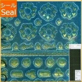 DESINPHIL・MIDORI デザインフィル・ミドリ シール ・ シール2146 ゴールド柄 ハート 鍵 デザイン文具 スケジュール帳 手帳のタイムキーパー