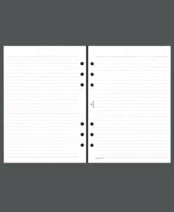 ASHFORD アシュフォード システム手帳リフィル A5(6穴) メモリーフホワイト A5 財布 システム手帳 リフィル 手帳カバー 革 デザイン文具 スケジュール帳 手帳のタイムキーパー