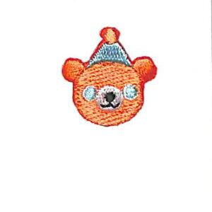 TOCONUTS トコナッツ シール ・ ワッペンシール200T 青い目のクマ シール帳 刺繍 アップリケ ワッペン 福袋 丸 おしゃれ デコレーション ハート スマホ ステッカー 花 かわいい スケジュール帳