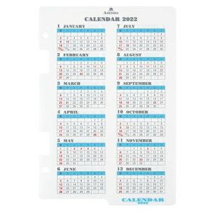 手帳 2022ASHFORD アシュフォード 2022年1月始まり システム手帳リフィル 年間式 A5(6穴) カレンダーリフター A5 月間+1週間 6穴 a4 a5 m5 日付入り レフィル スケジュール帳 手帳のタイムキーパー