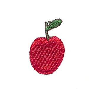 TOCONUTS トコナッツ シール ・ ワッペンステッカーベーシックO リンゴ アップル シール帳 刺繍 アップリケ ワッペン 福袋 丸 おしゃれ デコレーション ハート スマホ ステッカー 花 かわいい