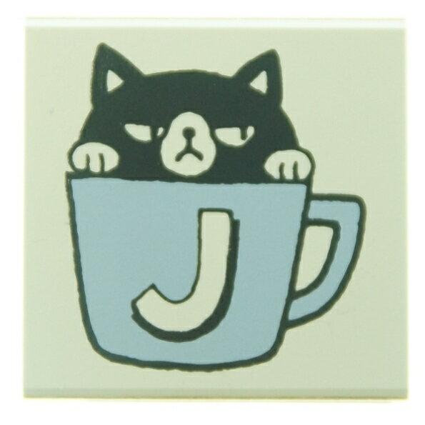 KODOMONOKAO こどものかお スタンプ ・ もりのはんこ イニシャルC J 黒猫 スタンプ台 オーダー キャラクター かわいい 手帳 印鑑 ハンコ スケジュール帳 手帳のタイムキーパー