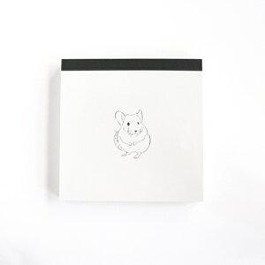 GREENFLASH グリーンフラッシュ ノート スクエア Animal Series メモパッド スクエア チンチラ a5 b5 方眼 罫線 横罫 無地 付箋 メモ帳 かわいい おしゃれ 小さい リング キャラクター スケジュール帳