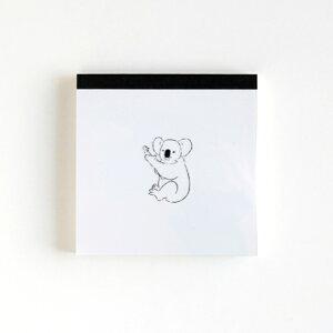 GREENFLASH グリーンフラッシュ ノート スクエア Animal Series メモパッド スクエア コアラ a5 b5 方眼 罫線 横罫 無地 付箋 メモ帳 かわいい おしゃれ 小さい リング キャラクター スケジュール帳 手