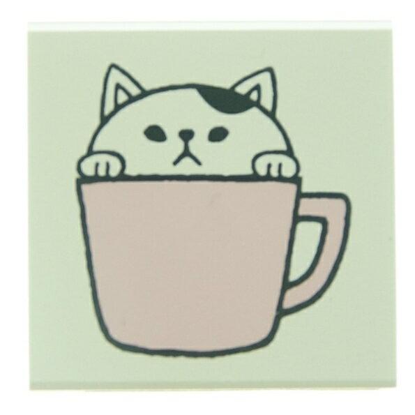 KODOMONOKAO こどものかお スタンプ ・ もりのはんこ イニシャルC 白猫 スタンプ台 オーダー キャラクター かわいい 手帳 印鑑 ハンコ スケジュール帳 手帳のタイムキーパー