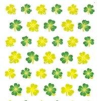 OKUYAMA 奥山 シール 春(はる) ・ クリスタルシール クローバー 植物 デザイン文具 スケジュール帳 手帳のタイムキーパー