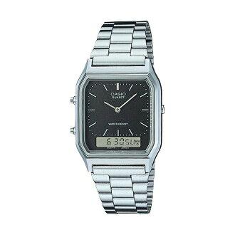 CASIO BASIC ANA-DIGI カシオ ベーシック アナデジ AQ-230A-1 腕時計 時計 シルバー ブラック 黒 AQ-230A-1DHCF AQ-230A-1DHDF AQ-230A-1DHEF 日本未発売