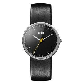 【並行輸入品】BRAUN ブラウン アナログ レディース BN0021BKBKL 腕時計 ブラック 黒 シルバー レザー 革ベルト BNH0021 送料無料