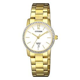 【並行輸入品】【10年保証】CITIZEN シチズン クオーツ EU6032-85A 腕時計 レディース 逆輸入 アナログ ゴールド 金 ホワイト 白 スワロフスキー 海外モデル
