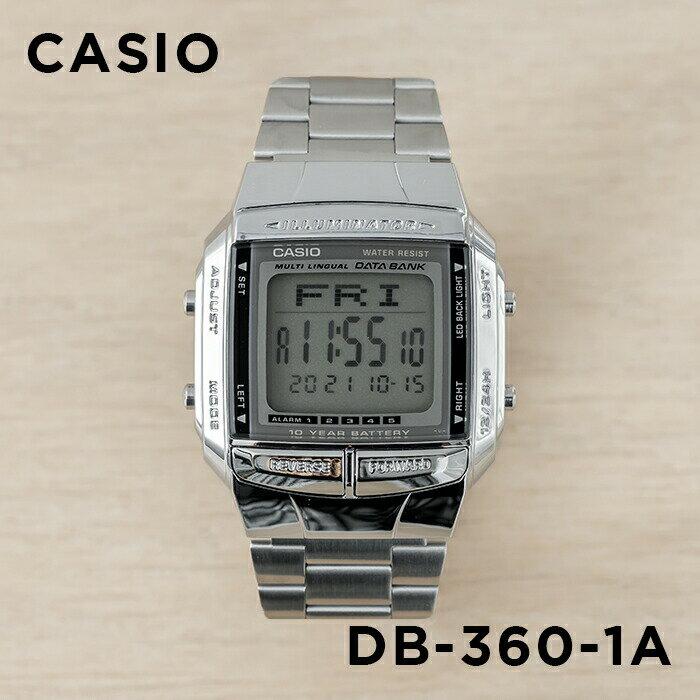 【並行輸入品】CASIO DATA BANK カシオ データバンク DB-360-1A 腕時計 メンズ レディース デジタル シルバー ブラック 黒