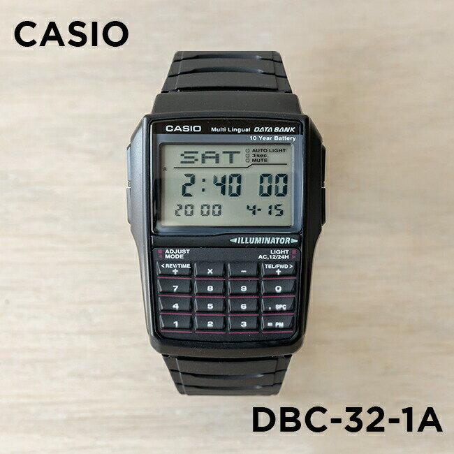 【並行輸入品】CASIO DATA BANK カシオ データバンク DBC-32-1A 腕時計 メンズ レディース デジタル ブラック 黒