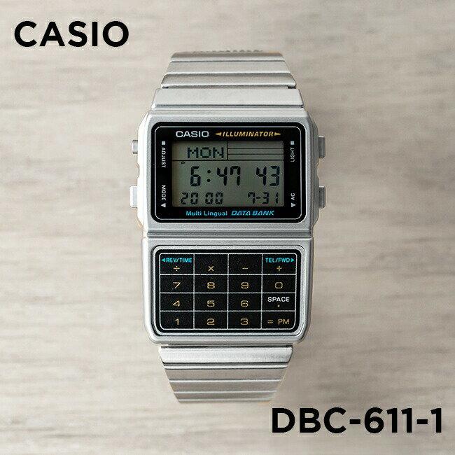 【並行輸入品】CASIO DATA BANK カシオ データバンク DBC-611-1 腕時計 メンズ レディース デジタル シルバー ブラック 黒