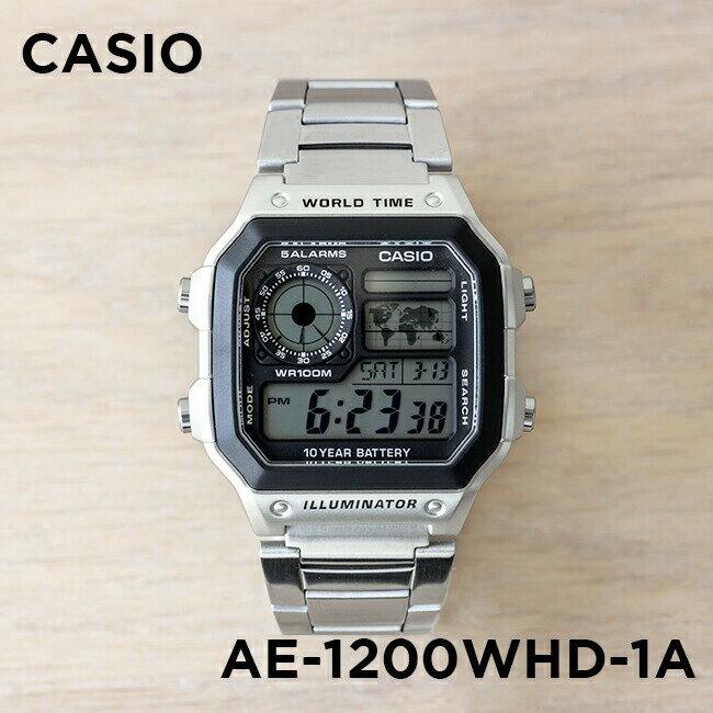 【並行輸入品】CASIO STANDARD DIGITAL カシオ スタンダード デジタル AE-1200WHD-1A 腕時計 メンズ レディース チープカシオ チプカシ プチプラ 防水 シルバー ブラック 黒