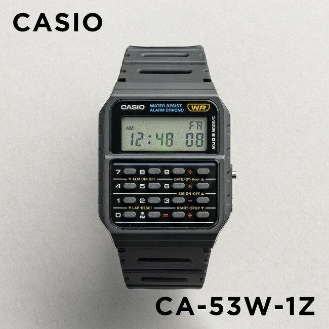 【並行輸入品】CASIO CALCULATOR カシオ カリキュレーター CA-53W-1 腕時計 メンズ レディース チープカシオ チプカシ プチプラ DATA BANK データバンク バックトゥザフューチャー ブラック 黒