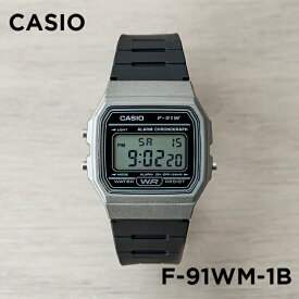 【並行輸入品】【10年保証】CASIO カシオ スタンダード F-91WM-1B 腕時計 メンズ レディース キッズ 子供 男の子 女の子 チープカシオ チプカシ デジタル 日付 ブラック 黒 グレー 海外モデル
