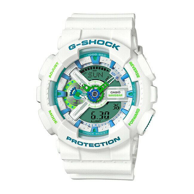 【並行輸入品】CASIO G-SHOCK カシオ Gショック GA-110WG-7A 腕時計 メンズ ジーショック アナデジ 防水 ホワイト 白 スカイブルー 水色