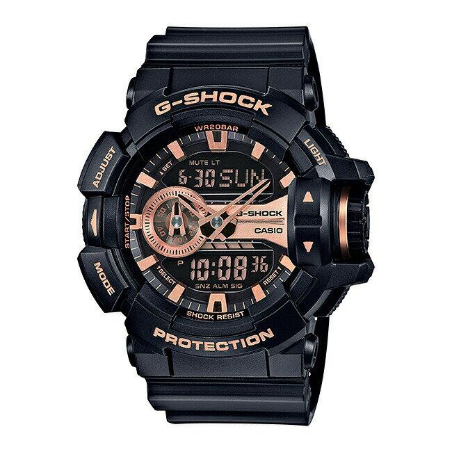 【並行輸入品】CASIO G-SHOCK カシオ Gショック GA-400GB-1A4 腕時計 メンズ ジーショック アナデジ 防水 ブラック 黒 ピンクゴールド