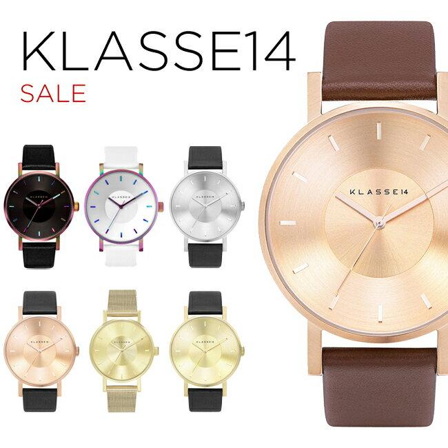【並行輸入品】KLASSE14 SALE クラス14 セール 腕時計 メンズ レディース ブラウン 茶 ローズゴールド ブラック 黒 シルバー ゴールド 金 ホワイト 白 レザー 革ベルト VO14RG002M VO14BK001W VO14GD001W VO14SR001M VO16TI003M