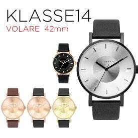 【並行輸入品】KLASSE14 クラス14 マリオ ノビル ヴォラーレ 42MM 腕時計 メンズ アナログ ブラック 黒 シルバー ゴールド 金 ローズゴールド ブラウン 茶 レザー 革ベルト VO14BK001M VO14GD001M VO14RG001M VO14RG002M VO16RG005M