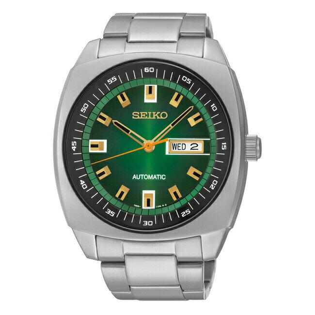 【並行輸入品】SEIKO RECRAFT SERIES AUTOMATIC セイコー リクラフト シリーズ オートマチック SNKM97 腕時計 メンズ 逆輸入 アナログ シルバー グリーン 緑