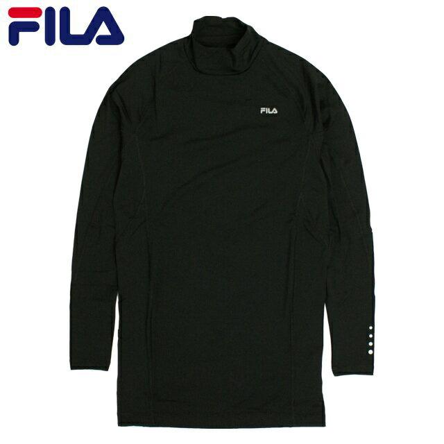 【お買い得セール価格】インナーシャツ メンズ FILA(フィラ) ストレッチ アンダーシャツ 長袖 ハイネック Tシャツ コンプレッションシャツ アンダーウェア 全2色