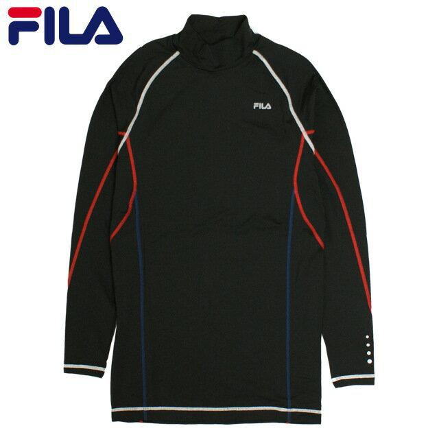 インナーシャツ メンズ FILA(フィラ) ストレッチ アンダーシャツ 長袖 ハイネック Tシャツ コンプレッションシャツ アンダーウェア 全2色