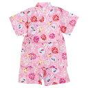 甚平 ベビー 女の子 赤ちゃん 綿100% 日本製生地 水風船柄 じんべい スーツ上下 祭 甚平 部屋着 寝まき パジャマ 子供…