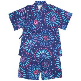 甚平 女の子 子供 キッズ 綿100% 日本製生地 花火柄 じんべい スーツ上下 祭 甚平 部屋着 パジャマ 子供甚平
