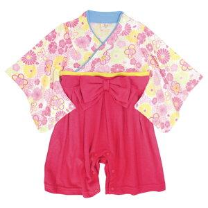 袴 ロンパース 女の子 ベビー 赤ちゃん 初節句 着物 ひなまつり 桃の節句 はかま 和装 カバーオール フォーマル べビー服 60cm 70cm 80cm 90cm