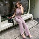 オールインワン レディース ガウチョパンツ オフィスカジュアル レディースファッション エレガント 着やせ 個性的 新作 OL通勤 T88157A07{2020.04.09}
