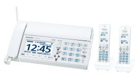 Panasonic デジタルコードレス普通紙ファクス(子機2台付き) KX-PD625DW-W