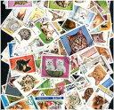海外・外国のネコの切手 猫 (海外使用済み切手 20枚)ねこ