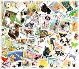 海外・外国の犬の切手 (使用済み切手 20枚)