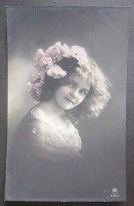 アンティークポストカード フランス 美しい少女