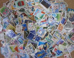 大量 日本の使用済み切手 1000枚 国内切手 NIPPON 記念切手 ふるさと切手