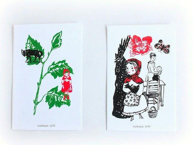Nathalie Lete(ナタリーレテ)ぽち袋《赤ずきん》同デザイン3枚ワンセット